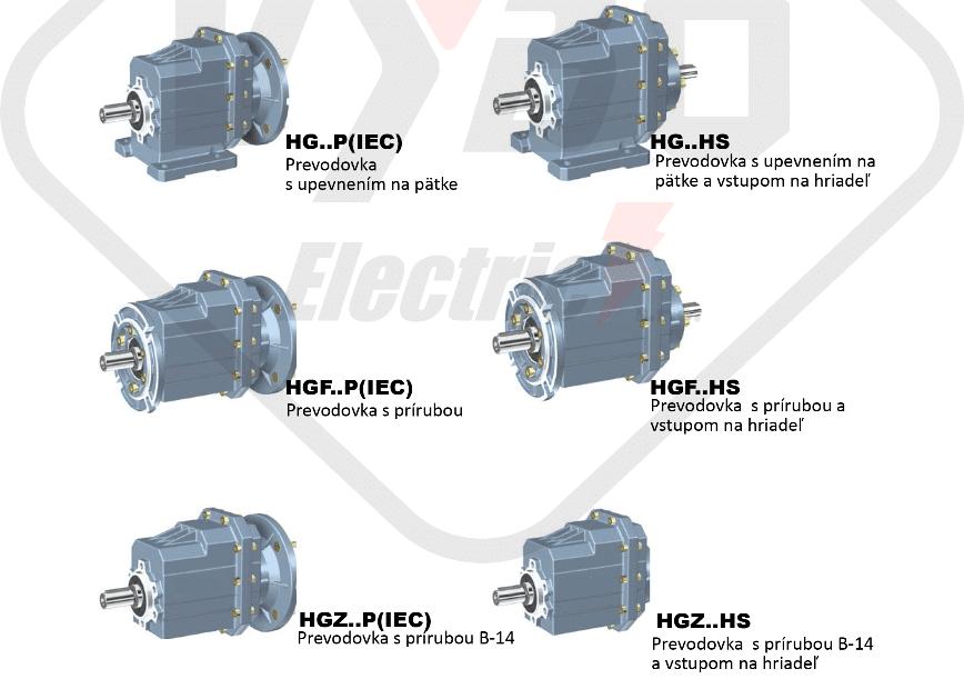 modely čelná prevodovka HG01
