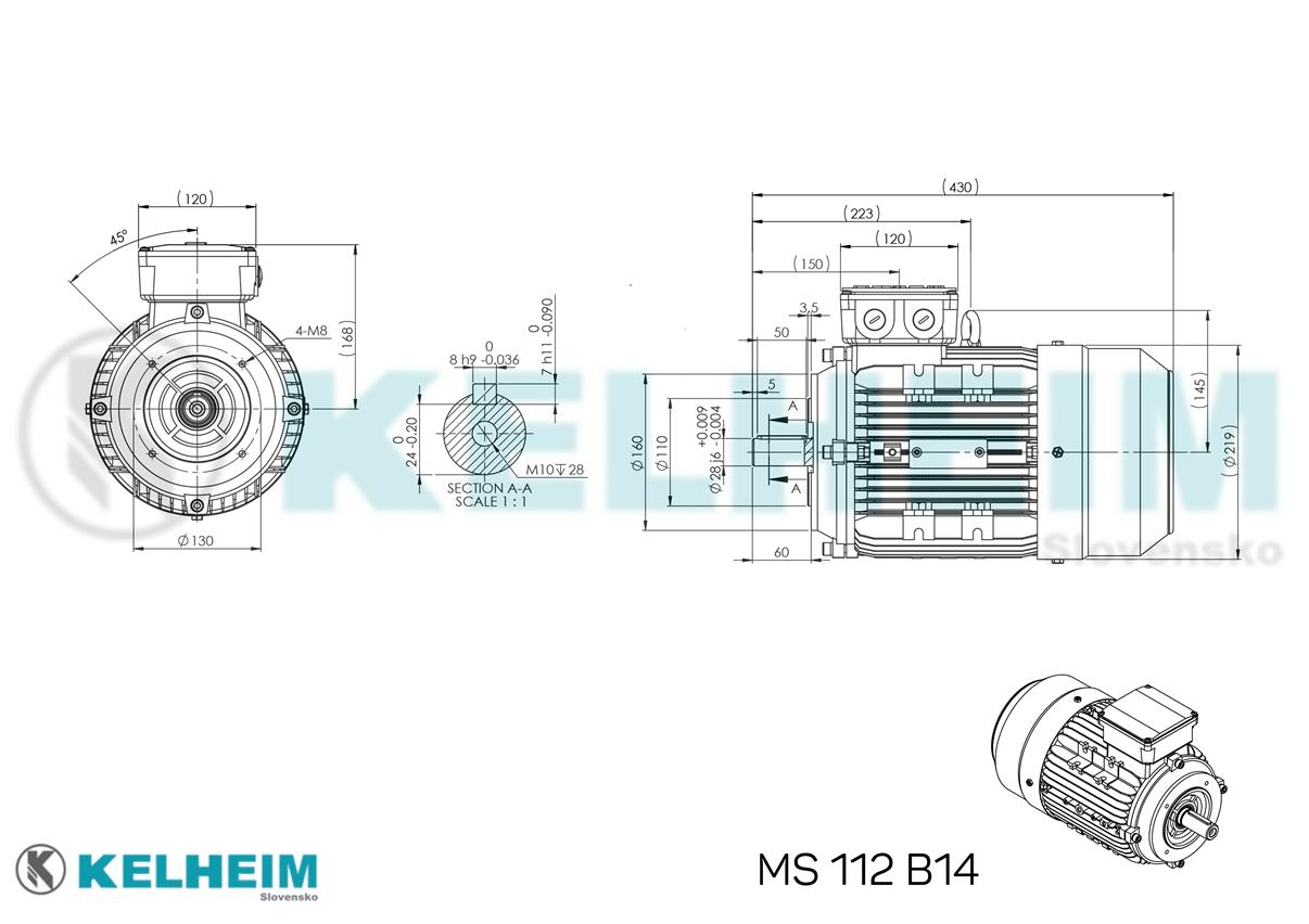 rozmerový výkres MS112B14