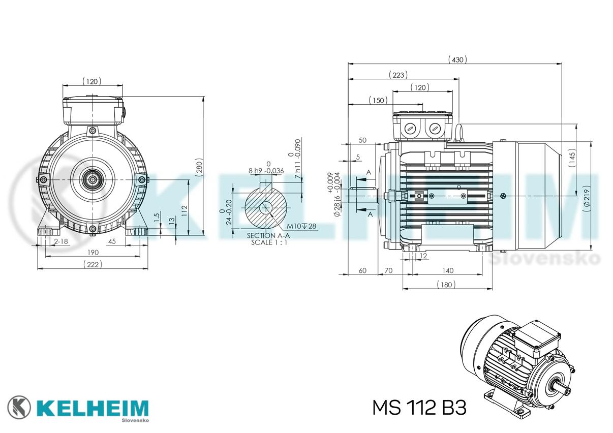rozmerový výkres MS112B3