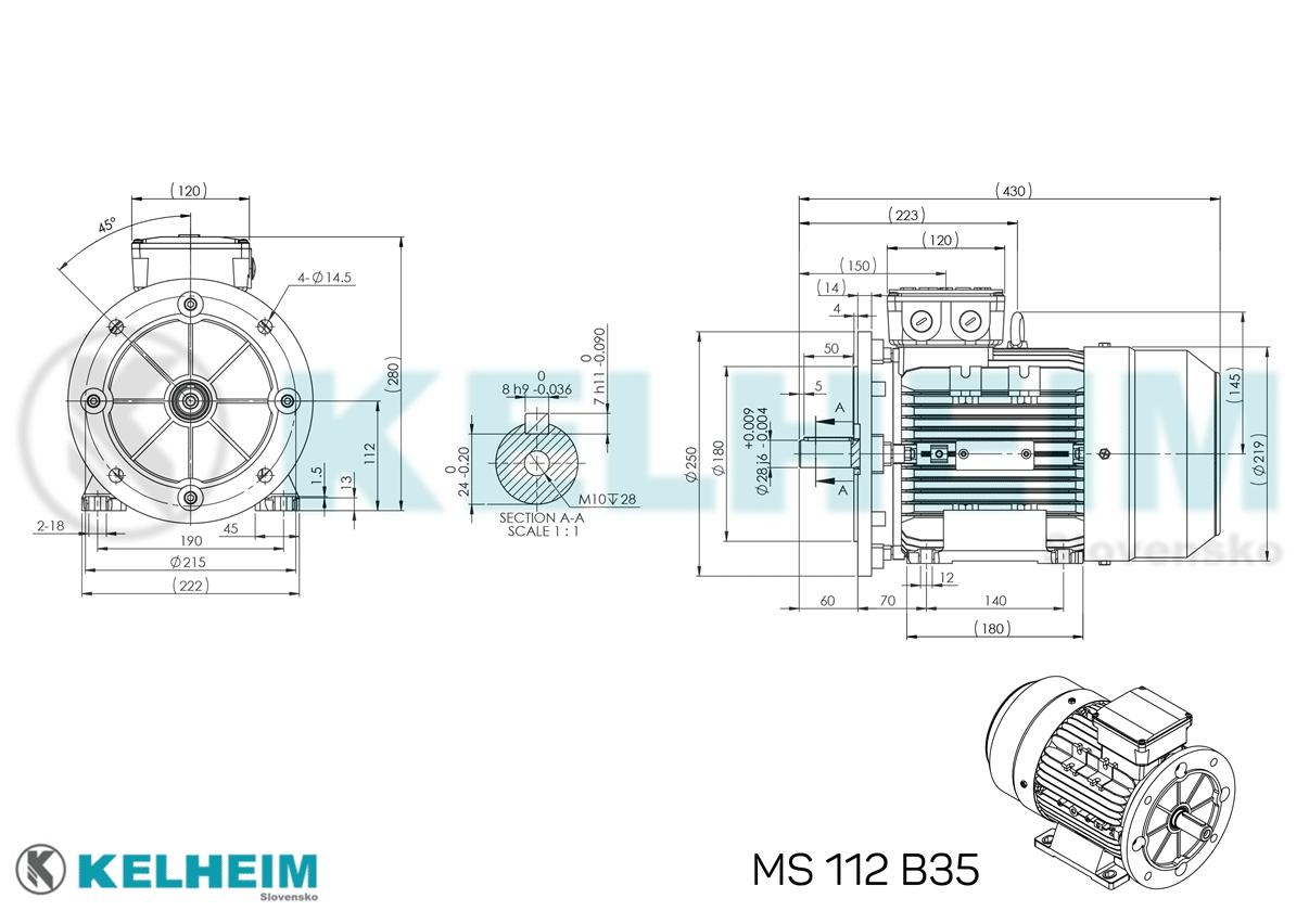 rozmerový výkres MS112B35