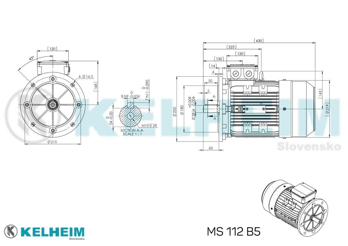 rozmerový výkres MS112B5