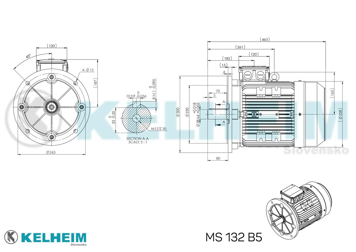 rozmerový výkres MS132B5