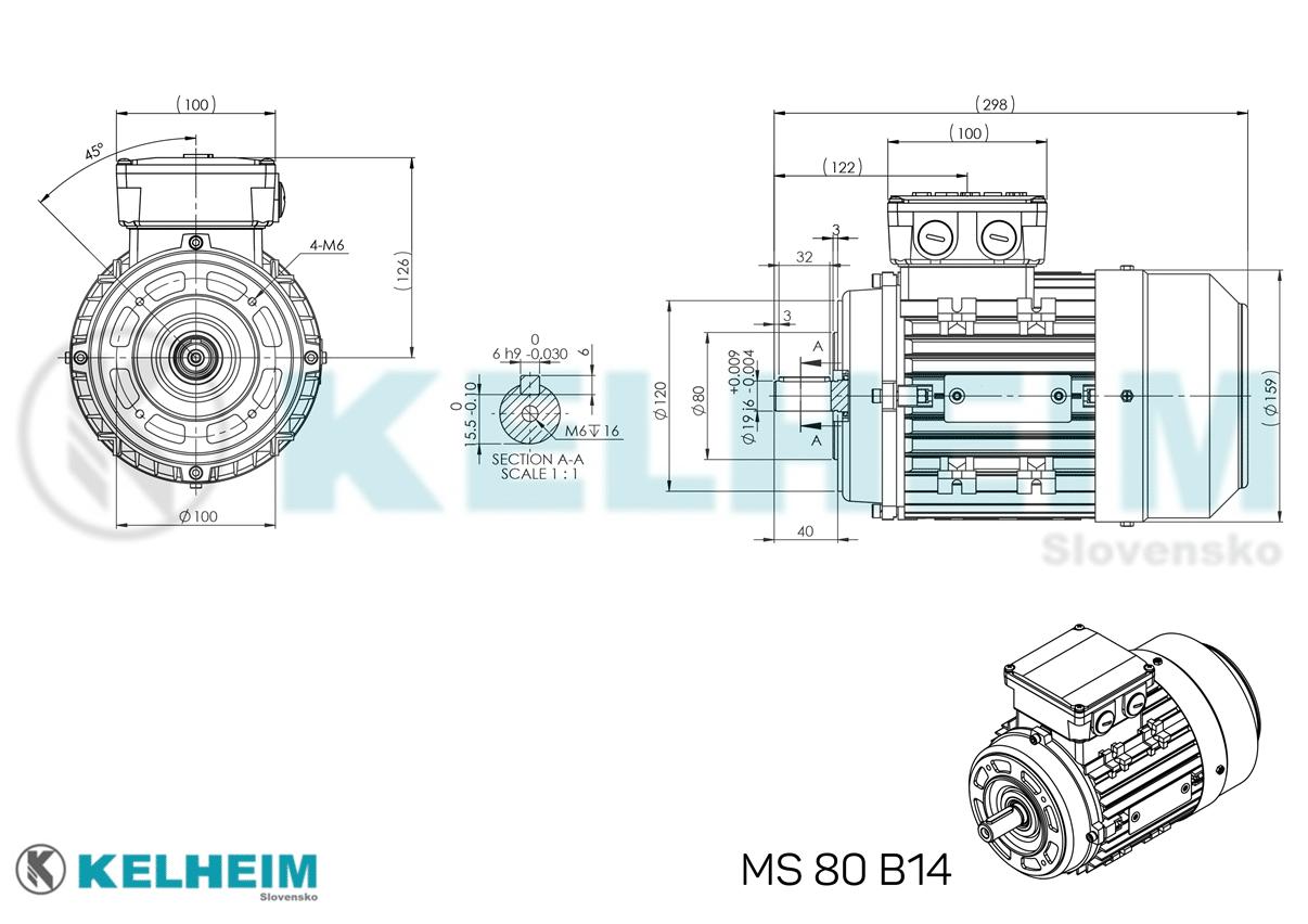 rozmerový výkres MS80B14