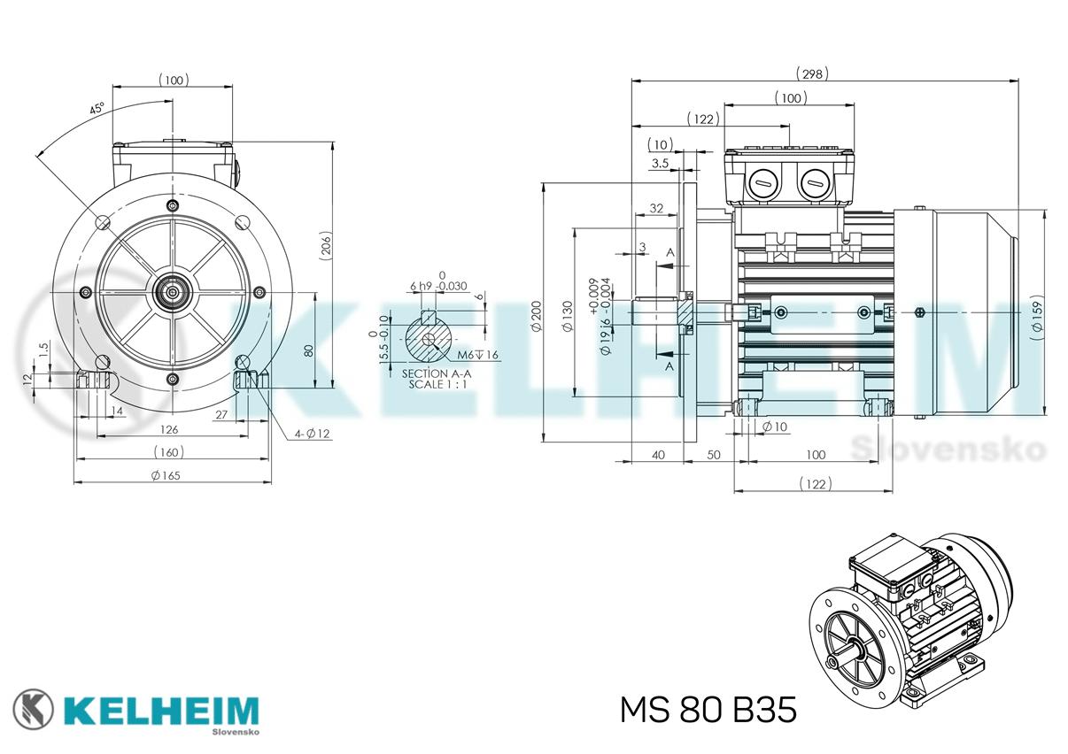 rozmerový výkres MS80B35