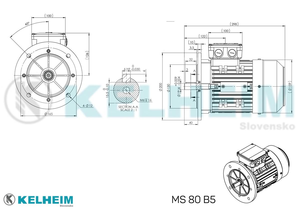 rozmerový výkres MS80B5