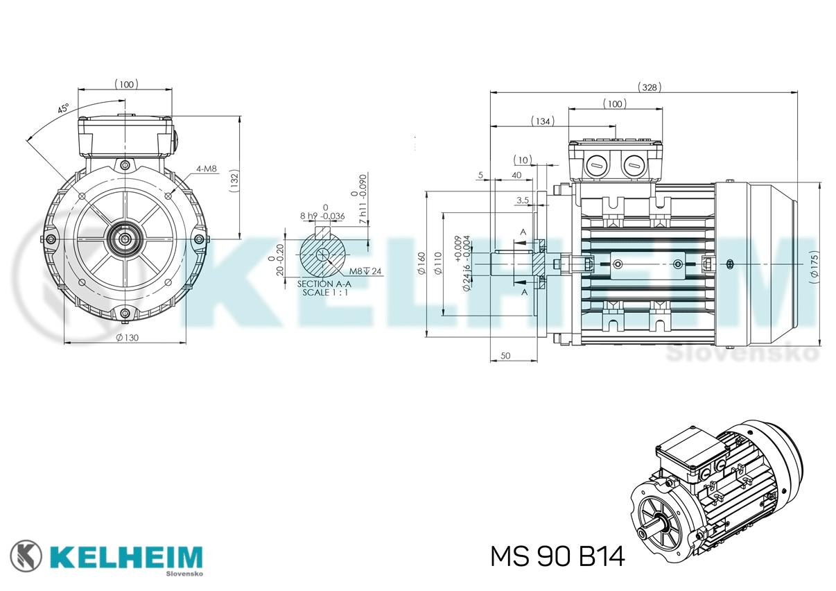 rozmerový výkres MS90B14