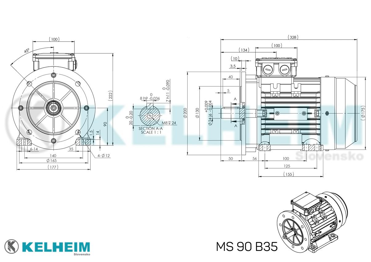 rozmerový výkres MS90B35