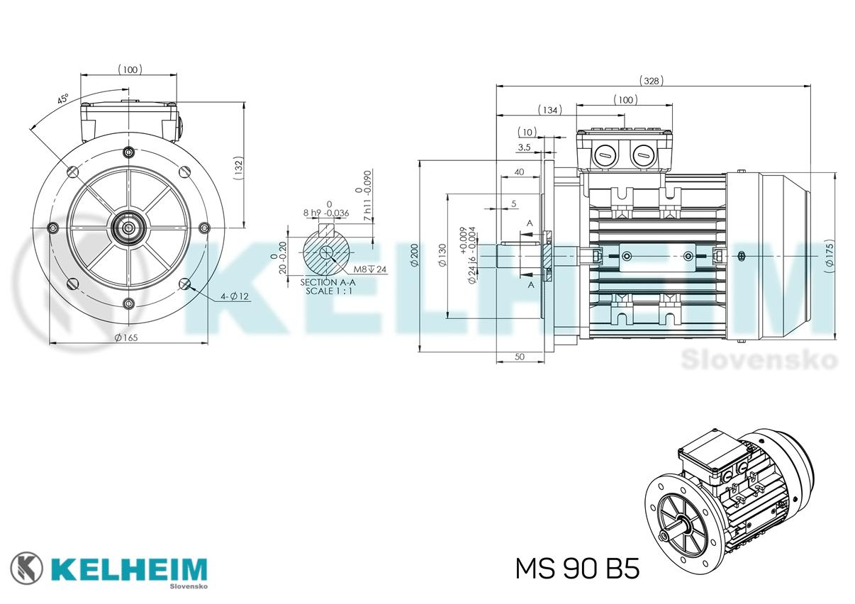 rozmerový výkres MS90B5